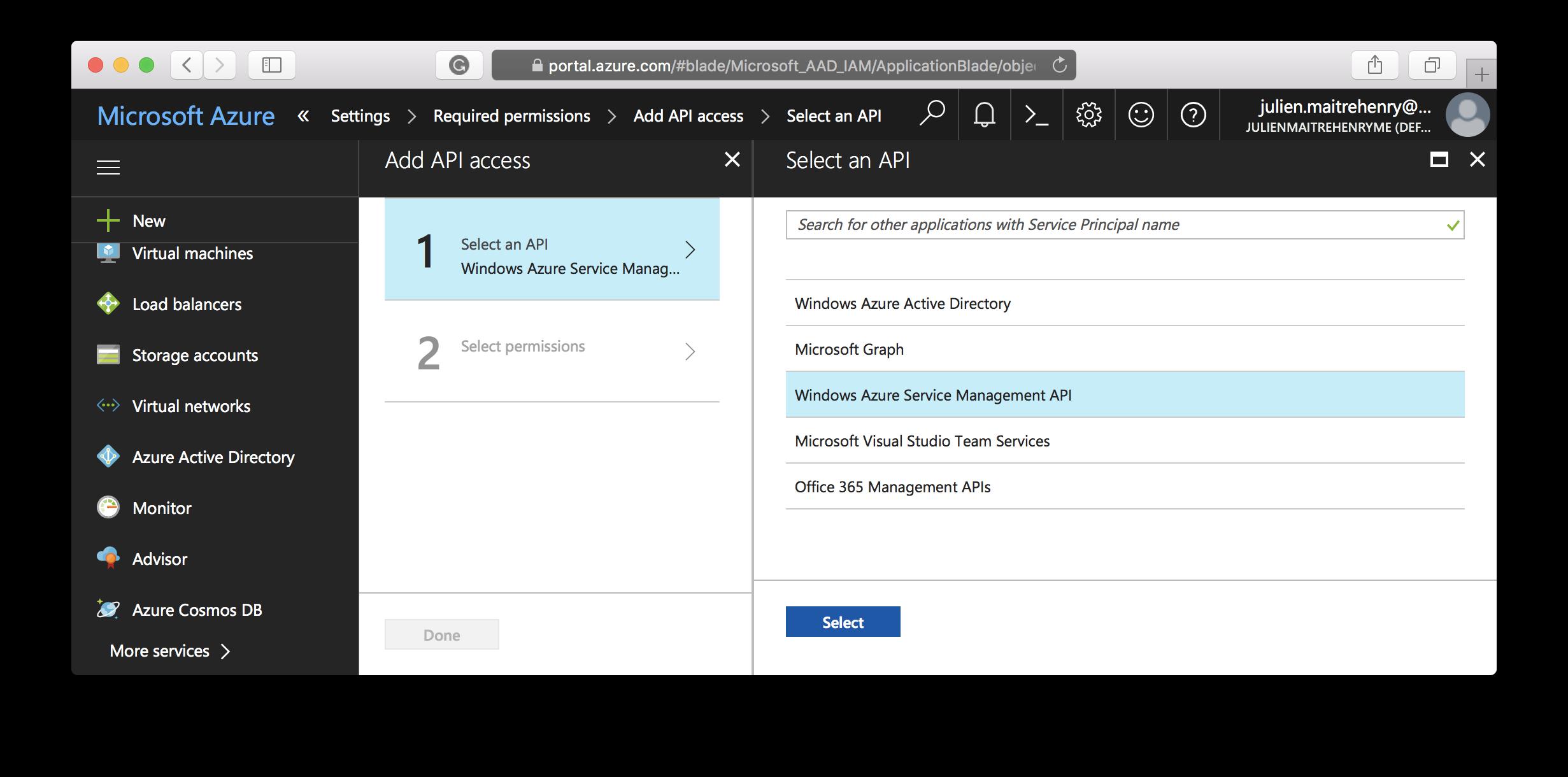 Application - Select API