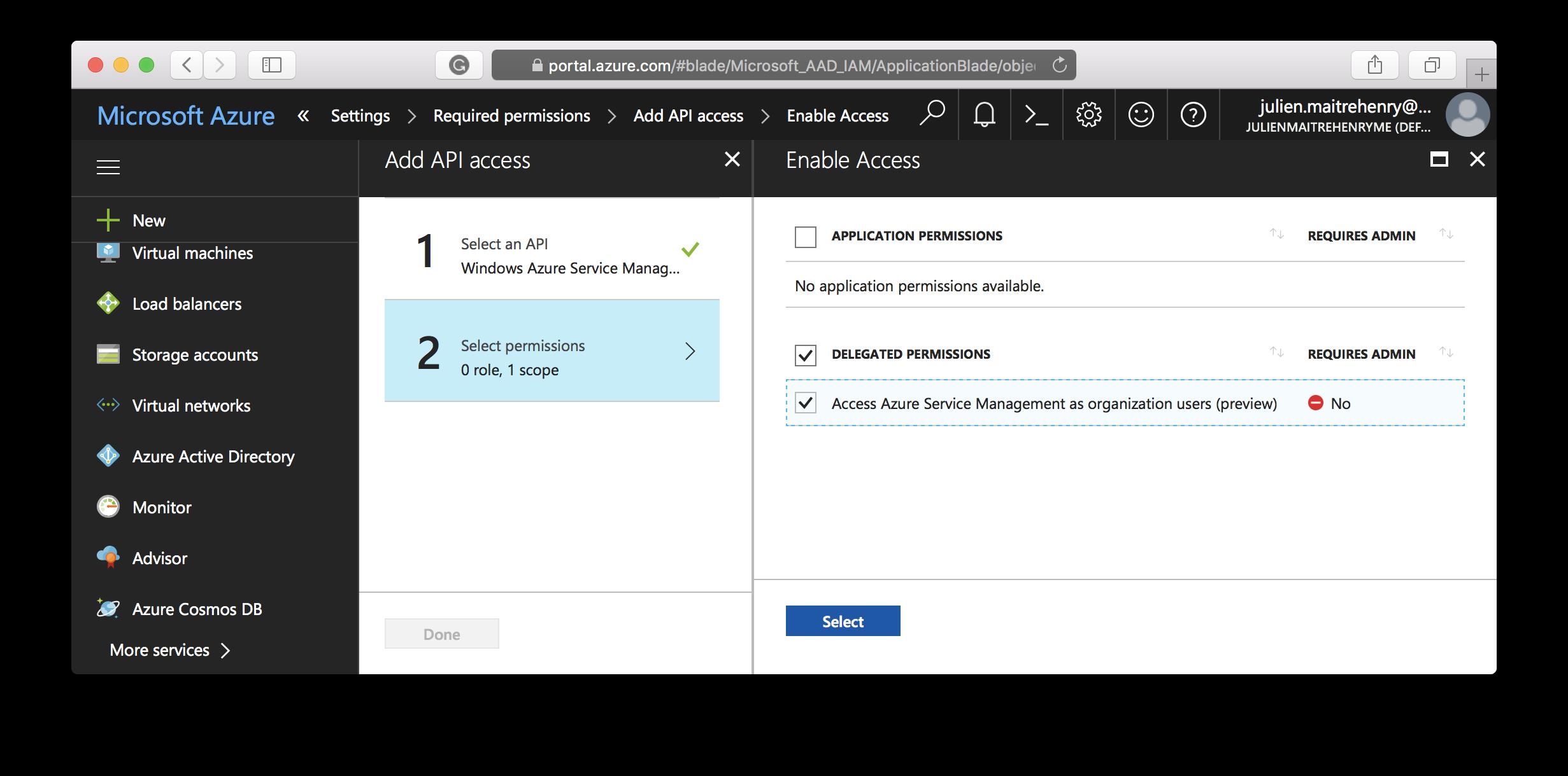Application - Add access